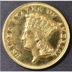1885 $3 GOLD GEM PROOF RARE