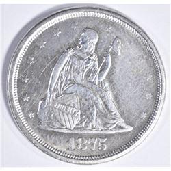 1875 S TWENTY CENT PIECE  AU/BU