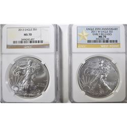 2011-W EARLY RELEASE & 2013 ASE NGC MS-70