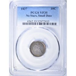 1837 SEATED LIBERTY DIME  PCGS VF-35