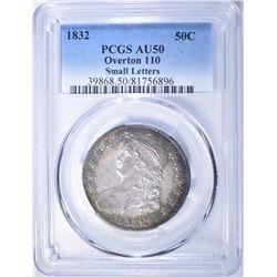 1832 BUST HALF DOLLAR  PCGS AU-50