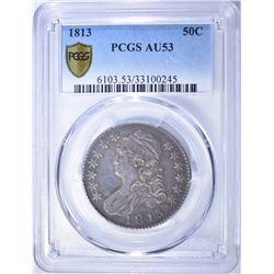 1813 BUST HALF DOLLAR PCGS AU-53