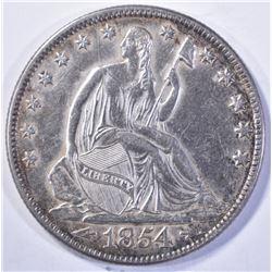 1854-O SEATED HALF DOLLAR CH BU cleaning