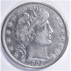 1900 BARBER HALF DOLLAR  AU
