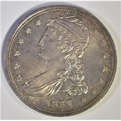 1837 REEDED EDGE HALF DOLLAR, GEM BU