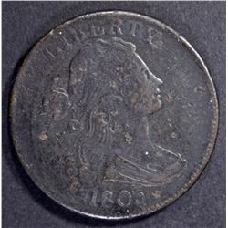 1803 DRAPED BUST LARGE CENT  VF