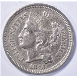 1875 THREE-CENT NICKEL  BU BUT REVERSE IS