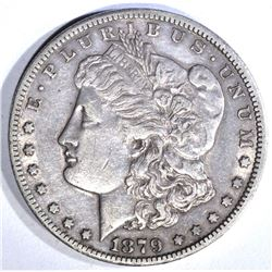 1879-CC MORGAN DOLLAR, AU SCARCE DATE