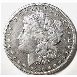 1904-S MORGAN DOLLAR, XF KEY DATE