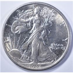 1917-S REV WALKING LIBERTY CH BU/ GEM BU
