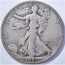 1921-S WALKING LIBERTY CHOICE VF