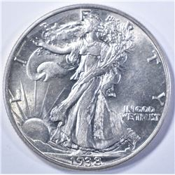 1938 WALKING LIBERTY CH BU +