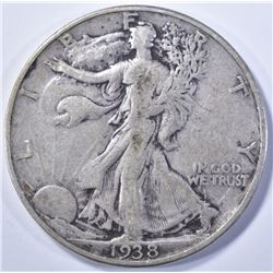 1938-D WALKING LIBERTY VF