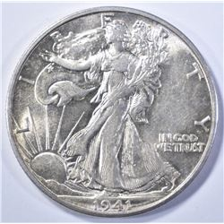 1941-S WALKING LIBERTY CH BU