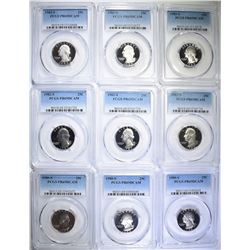 9-PCGS GRADED PR69 DCAM WASHINGTON QUARTERS