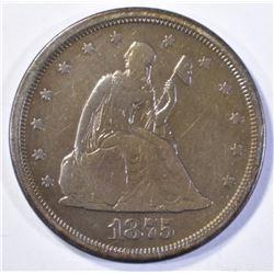 1875-S TWENTY CENT SEATED LIBERTY  VF