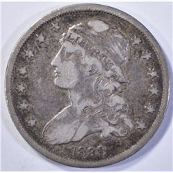 1838 CAPPED BUST QUARTER  CHOICE VF
