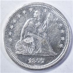 1877-S SEATED QUARTER, CH BU