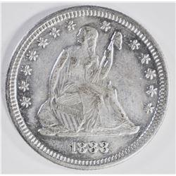 1888-S SEATED QUARTER, CH BU+