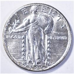1929 STANDING LIBERTY QUARTER, CH BU