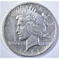 1921 PEACE DOLLAR  AU CLEANED