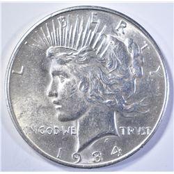1934-D PEACE DOLLAR   BU