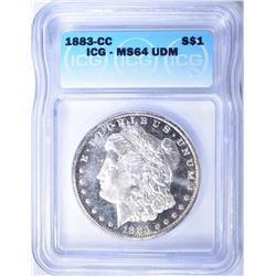 1883-CC MORGAN DOLLAR  ICG MS-64  UDM  RARE!!