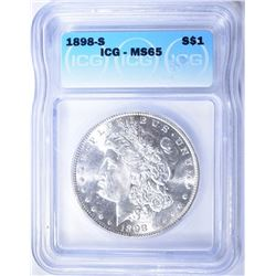 1898-S MORGAN DOLLAR  ICG  MS-65
