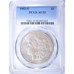 1902-S MORGAN DOLLAR  PCGS AU-53