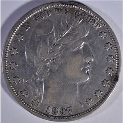 1897 BARBER HALF DOLLAR   VF