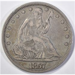 1857 SEATED LIBERTY HALF DOLLAR CHOICE XF