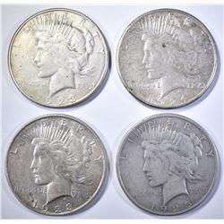 4-CIRC PEACE DOLLARS:
