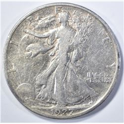 1927-S WALKING LIBERTY XF SCARCE!