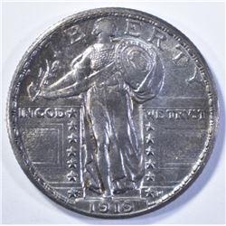 1919-S STANDING LIBERTY QUARTER, CH BU TONED NICE!