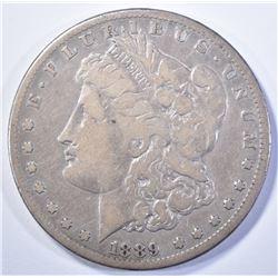 1889-CC MORGAN DOLLAR, VF