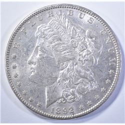 1892 MORGAN DOLLAR, CH BU