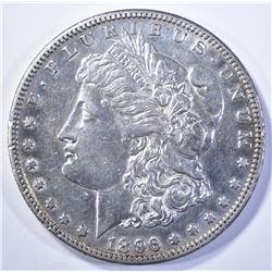 1896-S MORGAN DOLLAR, AU+