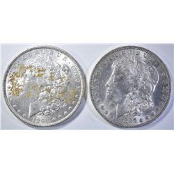 1885-O & 1896 XF/AU MORGAN DOLLARS