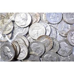 $10.00 FACE VALUE 1964 WASHINGTON QUARTERS