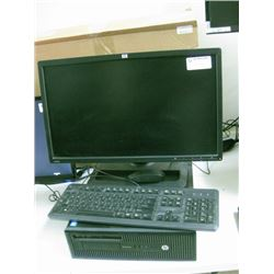 USED WORKING HP ELITEDESK 800 G1SFF AND HP ZR22W MONITOR