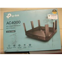 TP-LINK AC4000 MU-MIMO TRI-BAND WIFI ROUTER - ARCHER C4000