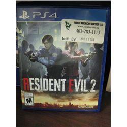 PS4 GAME - RESIDENT EVIL 2