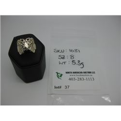 STERLING SILVER 925 - SIZE 8 - WEIGHT 5.3G