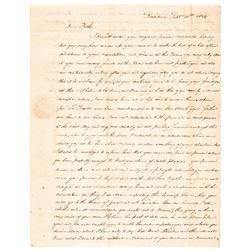1824 Letter to Rev. War General WILLIAM BARTON Regards Pension + Gen. Lafayette