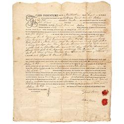 1788 DANIEL BOONE + His Wife REBECCA BOONE Signed Land Sale Deed