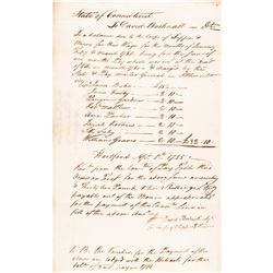 DAVID BUSHNELL Signed Continental Army First Corps of Sappers + Miners Document