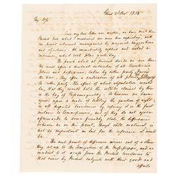 Historic HENRY CLAY 3-Page ALS Reports War of 1812 Treaty Negociations at Ghent