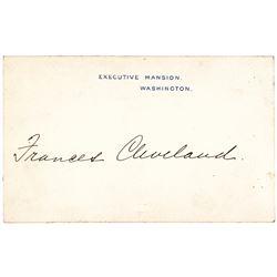 1887-Dated FRANCIS F CLEVELAND Autographed - Executive Mansion Washington Card