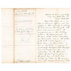 1863 General ABNER DOUBLEDAYs Civil War Letter Telling of His Brothers Heroism