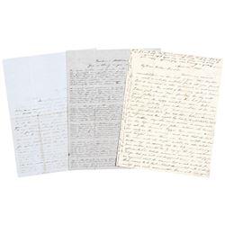 (JAMES WILLIAM DENVER) 4 Letter Archive. Whom the City of Denver, CO. is named